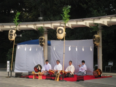Traditional performance at Meiji Shrine