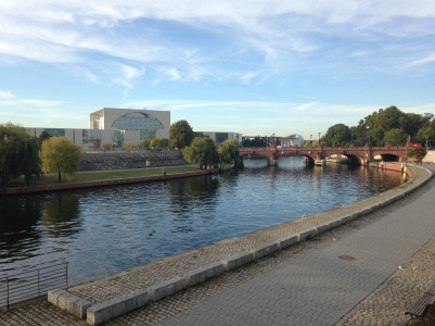 The Spree river near the Berlin Railway Station