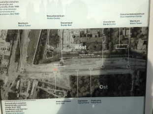 Berlin Wall schematic at Memorial