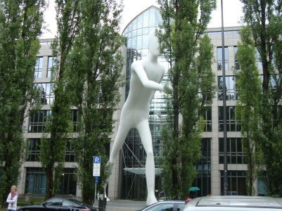 Walking Man Sculpture