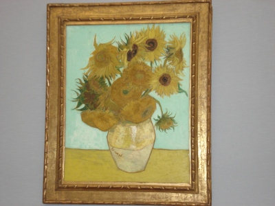 Van-Gogh's Sunflowers at Neue Pinakothek