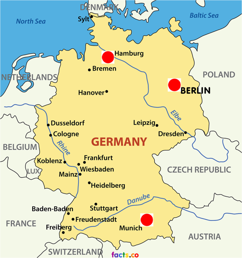 GermanyMapwithCities