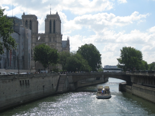 Notre-Dame Cathedral by Seine River