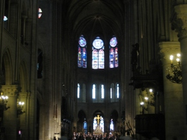 Inside Notre-Dame Cathedral