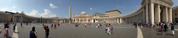 Panorama view of St. Peter's Square