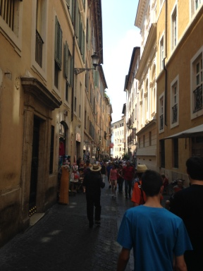 Narrow streets in Rome