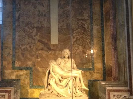 Pietà by Michaelangelo in St. Peters Basilica