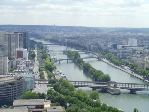Siene River from Eiffel Tower