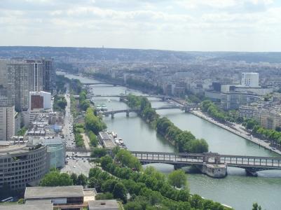 Siene River from Eiffel Tower